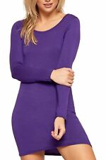 286b813e6cdf item 7 Womens Long Sleeve Stretch Bodycon Dress Ladies Plus Size Plain  Short Mini Dress -Womens Long Sleeve Stretch Bodycon Dress Ladies Plus Size  Plain ...