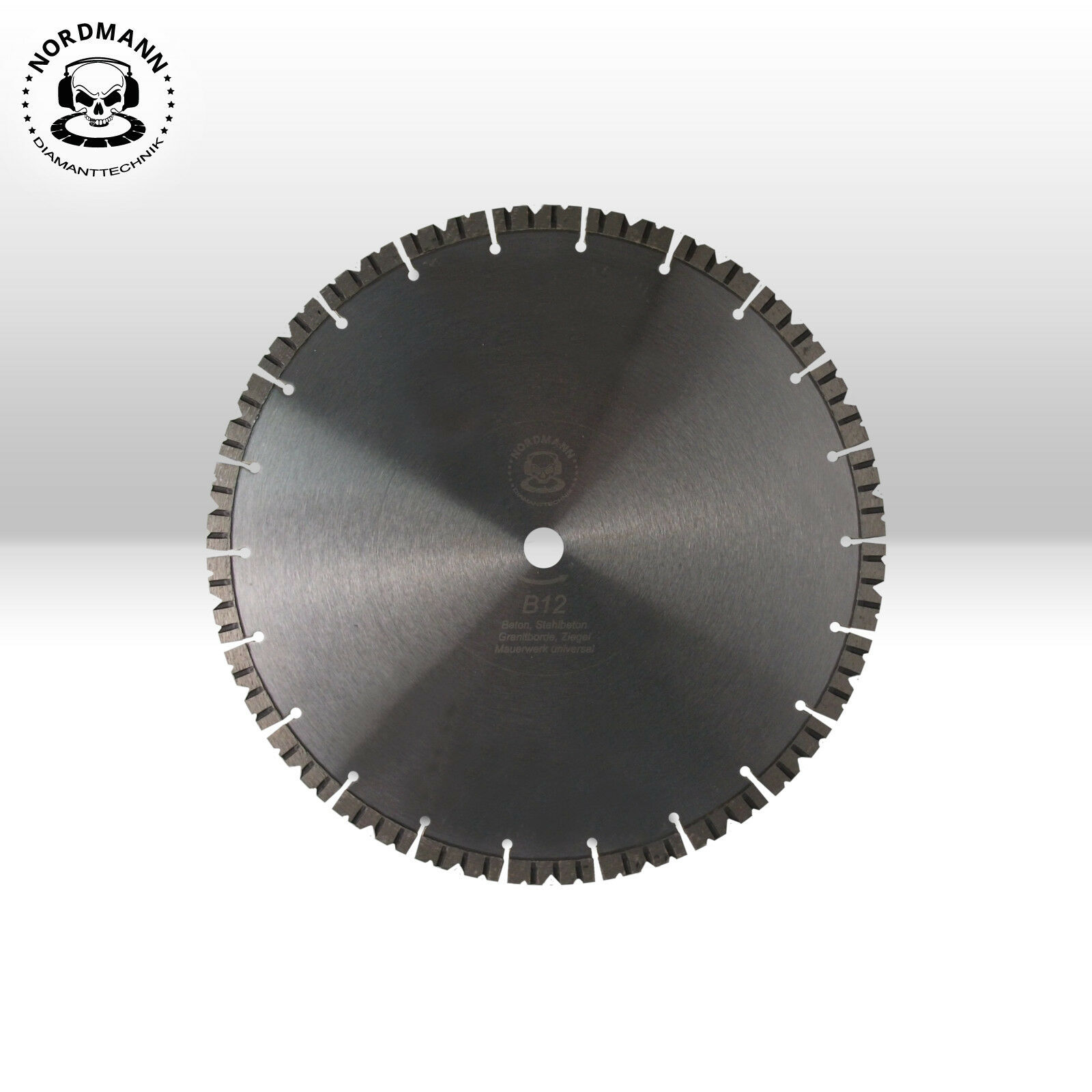 1 Stück Diamant-Trennscheibe Diamantscheibe Ø 350 x25,4 NORDMANN N10 Turbo Beton