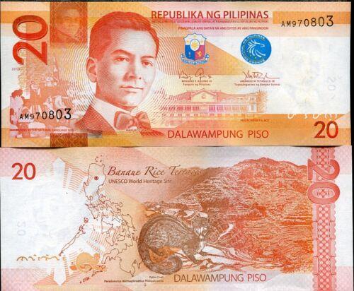 PHILIPPINES 20 PESOS 2013 P 206 UNC