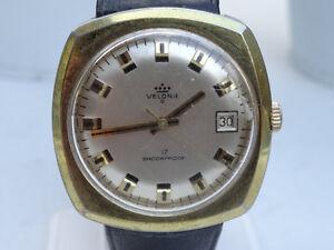Watch-Horloge-Vintage-Velona-shockproof-men-039-s-watch