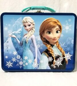 Frozen Ice Princess Anna Elsa Square Tin Stationery Or
