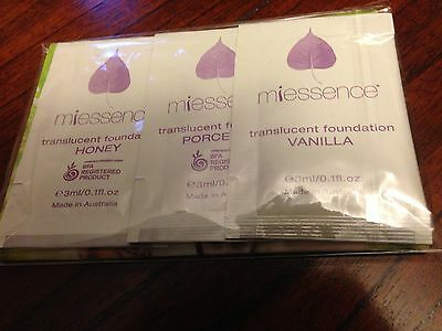 Miessence Translucent Foundation Sample Pack - Certified & Organic Ingredients