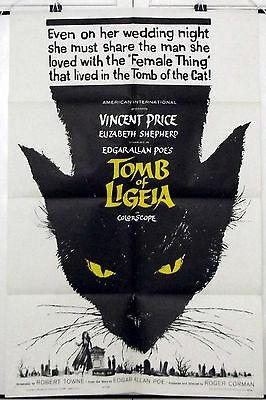 TOMB OF LIGEIA -VINCENT PRICE / EDGAR ALLAN POE- ORIGINAL USA 1SHT MOVIE POSTER