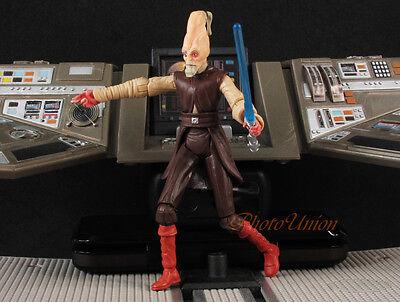"action figure 3.75/"" XA1 HASBRO Star Wars Jedi Master Ki-Adi-Mundi Clone Wars"
