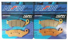 2P-225 NISSIN PASTIGLIE FRENO ANTERIORI SINTERIZZATE HONDA XL TRANSALP 700 08>14