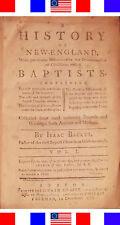 1777 HISTORY OF AMERICAN BAPTIST CHURCH+NEW ENGLAND Antique Rev War Bible 1st