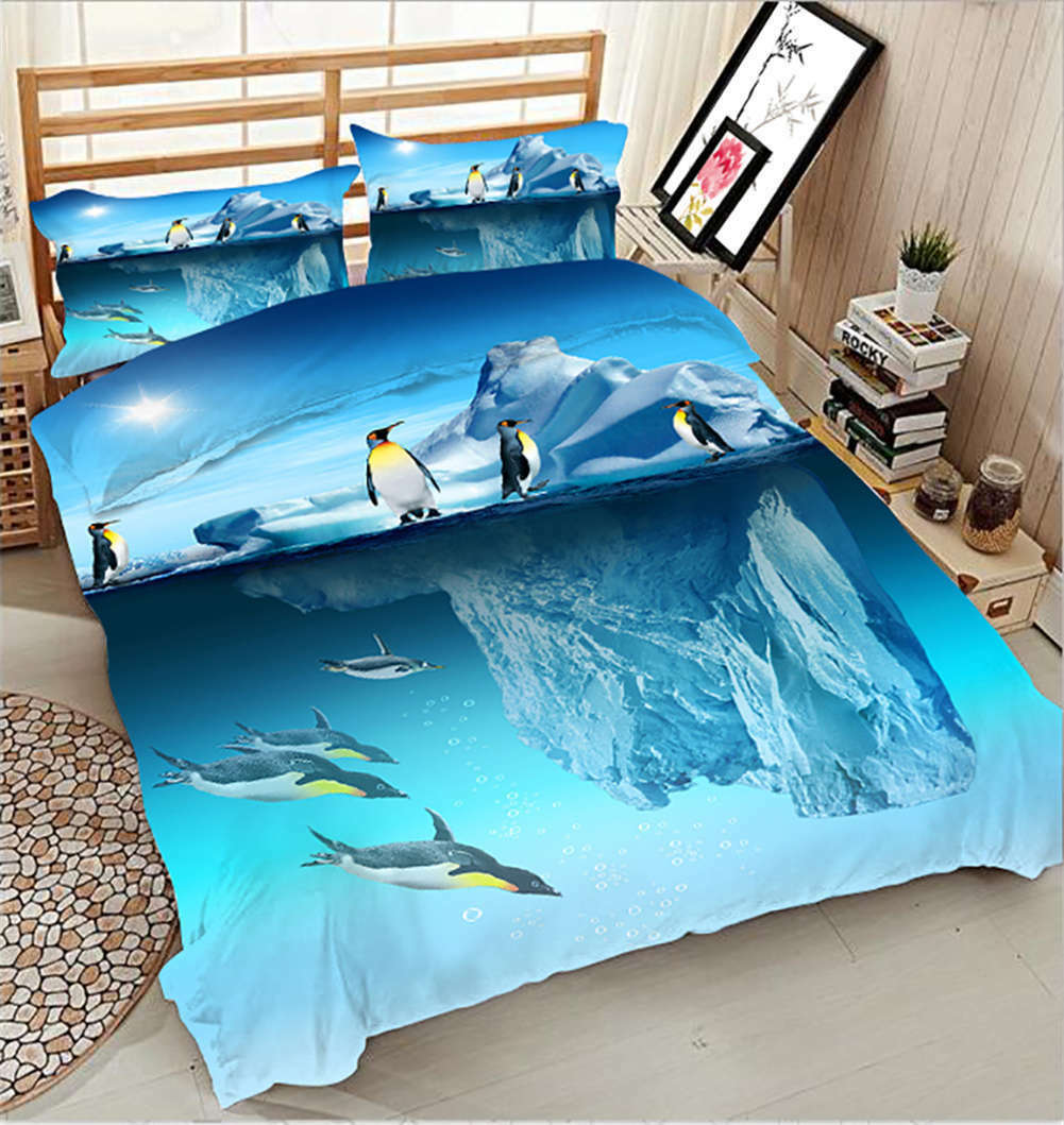 Chubby  Penguin 3D Printing Duvet Quilt Doona Covers Pillow Case Bedding Sets