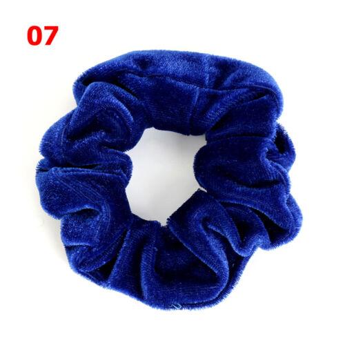 Women Elastic Hair Rope Ponytail Holder Ring Tie Scrunchie Velvet Scrunchie