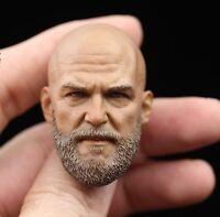 █ Custom Jeff Bridges 1/6 Head Sculpt for Hot Toys Iron Monger Man Body █