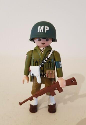 PLAYMOBIL Soldado EJERCITO USA POLICÍA MILITAR WW2 GUERRA MUNDIAL 1