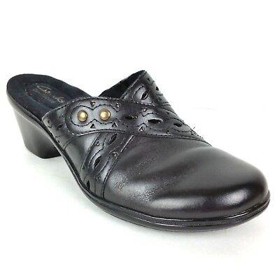 Able Clarks Women's Shoes Size 7.5 M Bendables Black Slip On Clog Mules 64946 Women's Shoes Clothing, Shoes & Accessories