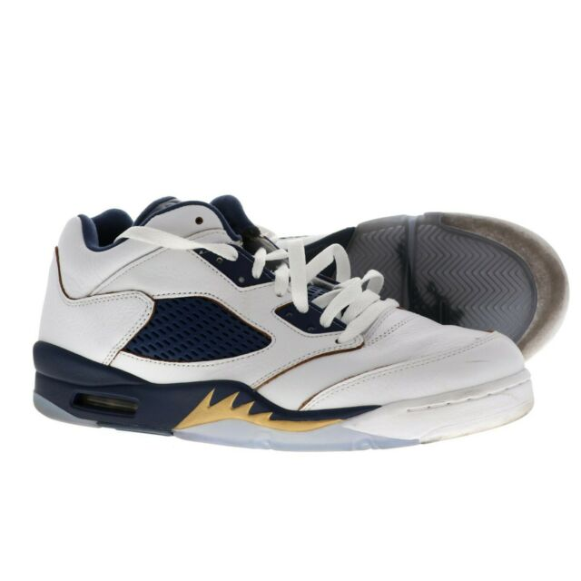 2a0a321031c2 Nike Air Jordan Retro 5 Low Dunk From Above Gold Navy White Size 11 819171-