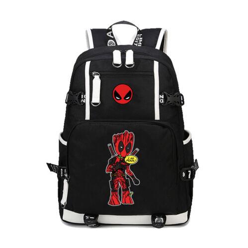 Nouveau Marvel Comics Deadpool Sac à Dos Enfants Ados École Sacs Cartable