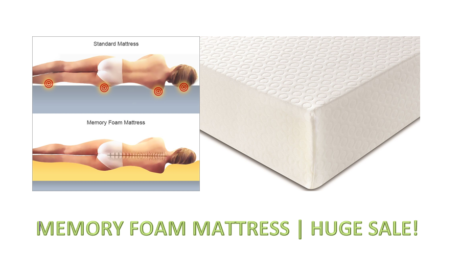 LUXURY MEMORY FOAM MATTRESS SINGLE DOUBLE KING 3FT 4FT 4FT6 5FT DEPTHS 6  8  10