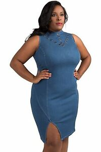 0d03db6787172 Image is loading Poetic-Justice-Plus-Size-Curvy-Womens-Sleeveless-Metal-