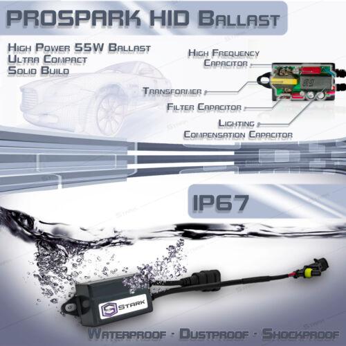 H7 10K 100000K Ice Blue Stark 55W Micro HID Fog Light Slim Xenon Kit