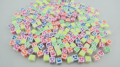 100pcs X 5mm 6mm 7mm mixto letra del alfabeto Abalorios acrílicos-la fabricación de joyas