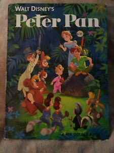 vintage Walt Disney's Peter Pan - Big Golden Book HC   1952