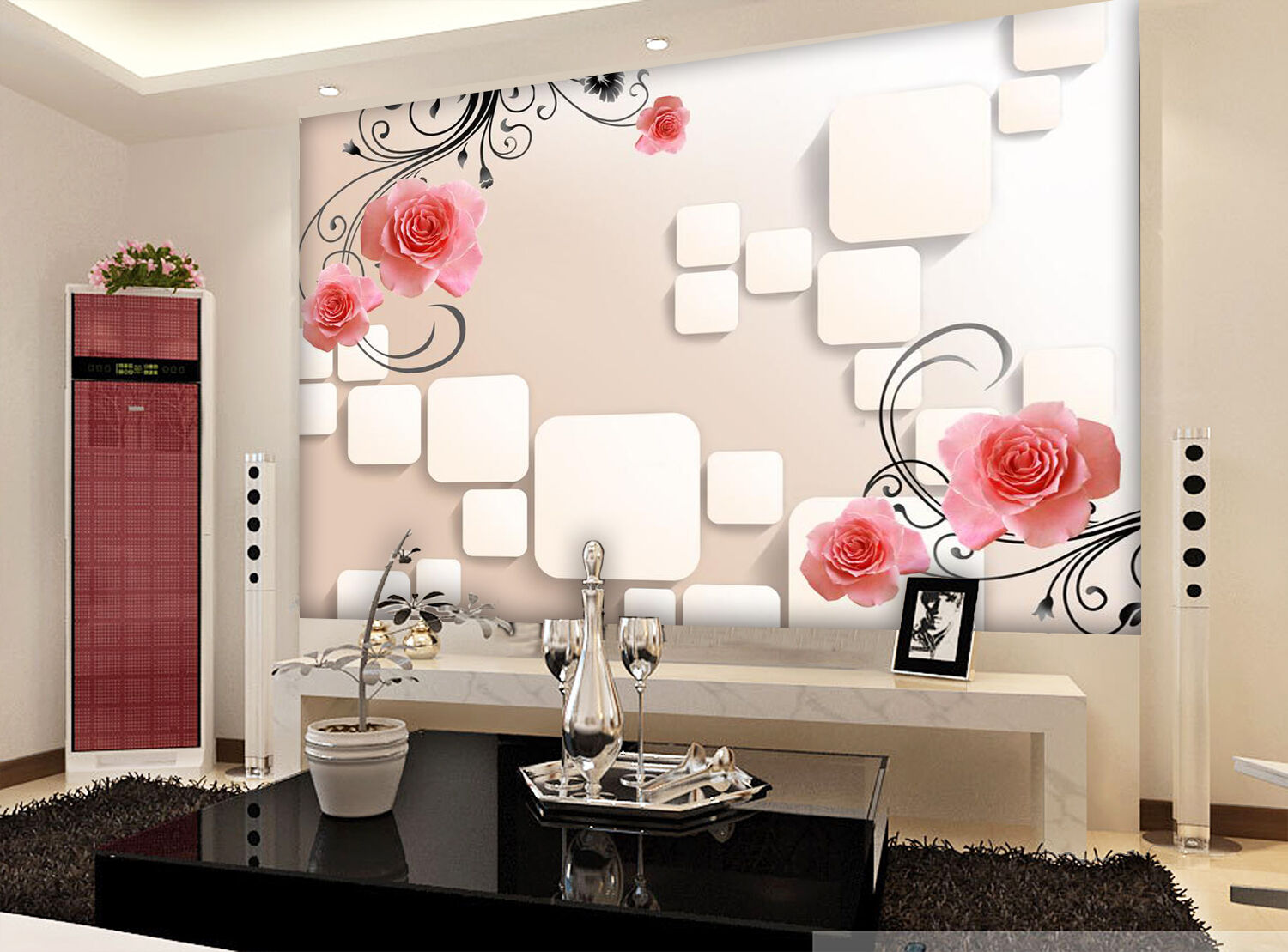 3D rot Flower Vine Painting 218 Wall Paper Wall Print Decal Wall AJ WALLPAPER CA