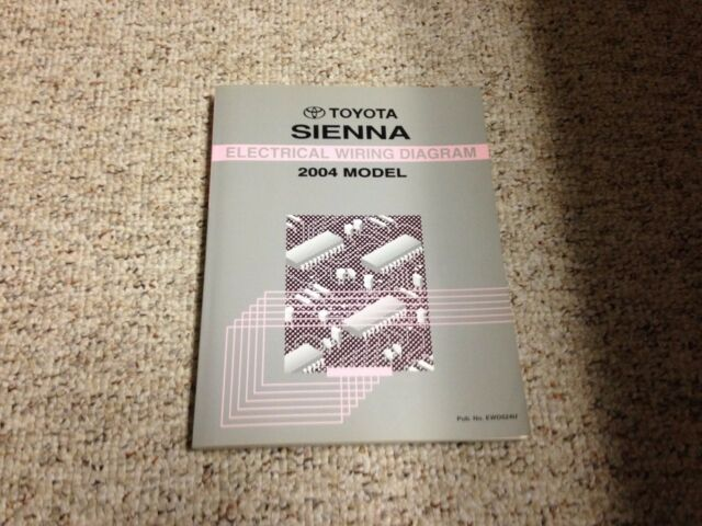 2004 Toyota Sienna Van Electrical Wiring Diagram Manual Ce Le Xle Limited 3 3 V6