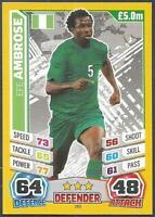 TOPPS MATCH ATTAX  BRAZIL 2014 WORLD CUP- #183-NIGERIA-EFE AMBROSE