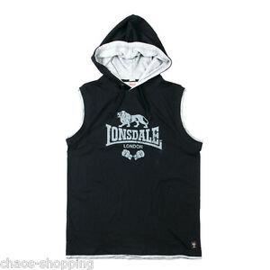 Lonsdale-Sleeveless-Shirt-Harrison-Hooded-Schwarz