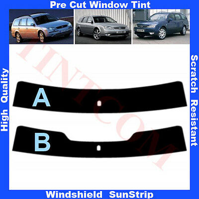 Pre Cut Window Tint Sunstrip for Ford Mondeo 5 Doors Estate 2001-2007 Any Shade