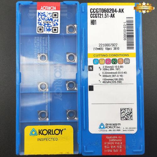 100pcs CCGT060204-AK H01 CCGT21.51-AK H01 Aluminum Milling Inserts Carbide Blade