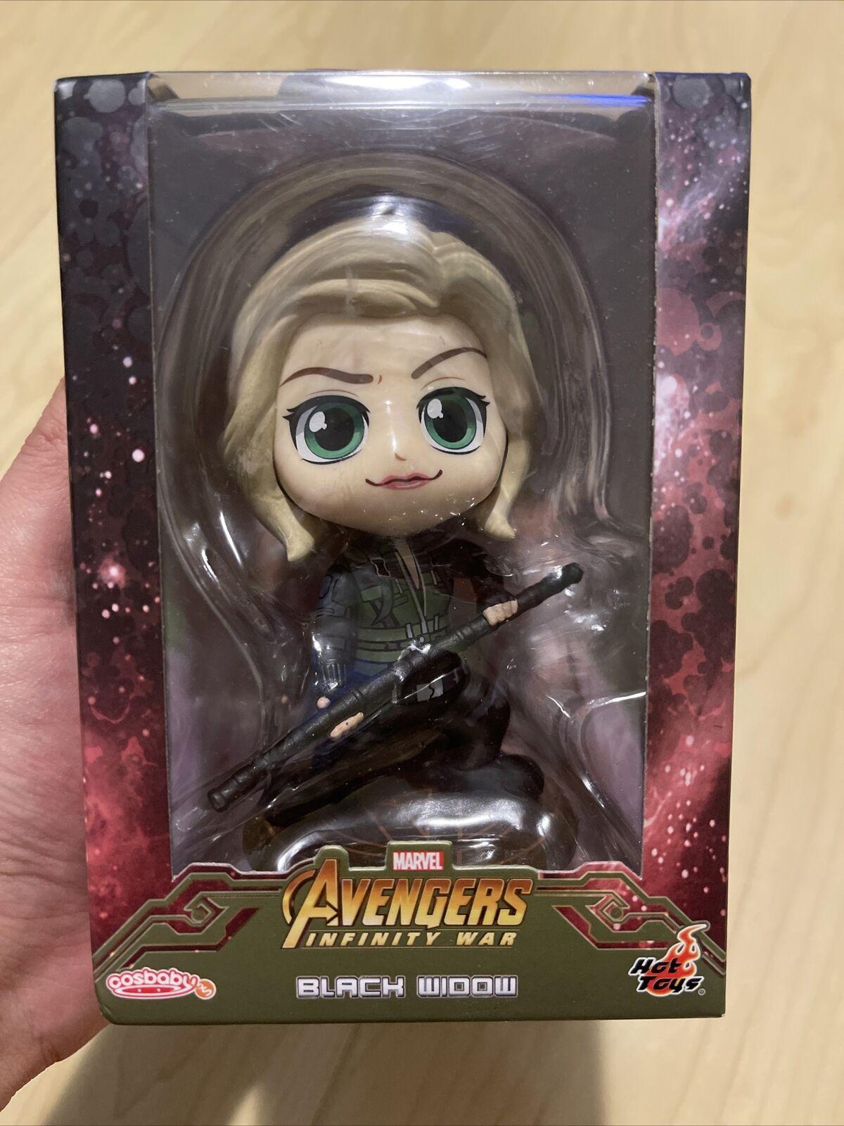 Marvel Avengers Infinity War Cosbaby Black Widow 4 Inch Hot Toys Bobblehead NEW on eBay thumbnail