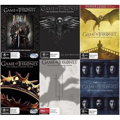 Game of Thrones - Seasons 1 2 3 4 5 6 : NEW DVD