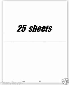2018 blank tax forms w 2 or 1099 without backer 2 up 25 sheets