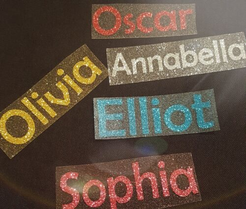 Personalised Name//Word GLITTER Iron On Transfer
