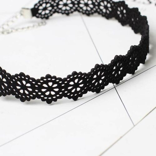 Gothic Black Retro Choker Chain Necklace Collar Lace Pendant Jewelry Women Gifts