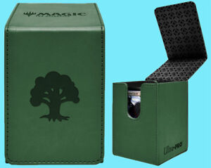 ULTRA-PRO-MTG-MATTE-GREEN-ALCOVE-MANA-FOREST-FLIP-DECK-BOX-Card-Storage-Case