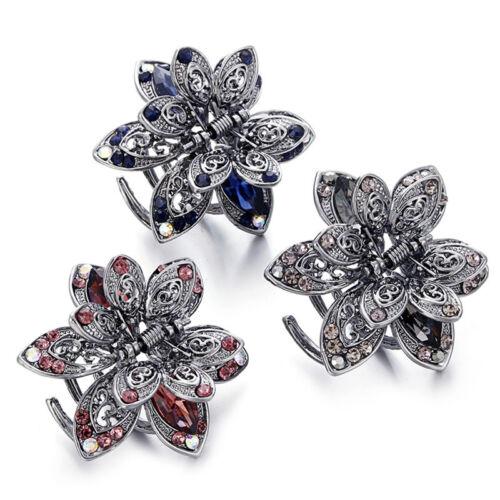Crystal Hair Clip Rhinestone Hairpin Claw Clamp Wedding Hair Accessories MO