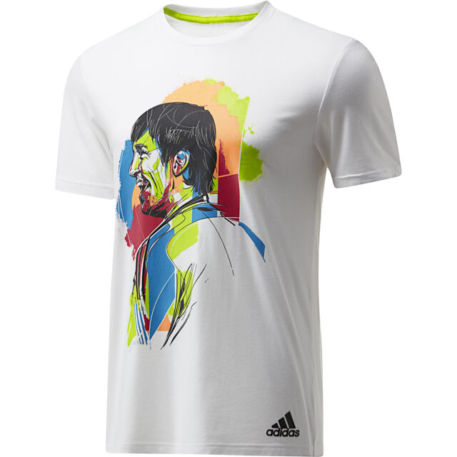 Polinizador Cerveza inglesa exagerar  nwt~Adidas LIONEL MESSI GRAPHIC TEE FAN Print Jersey soccer Shirt Top~Mens  sz XL for sale online