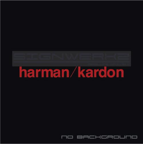 Harman Kardon Decals Stickers Car Audio car window stickers Pair