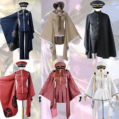 Senbonzakura Kaito Kimono Suit Uniform with Hat Cosplay Costume Custom Made NEW
