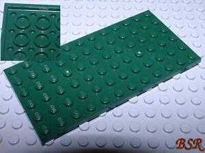 Lego-Placa-de-Construccion-3028-Oscuro-Earth-Verde-6x12-Burl-Unterbaubar-amp