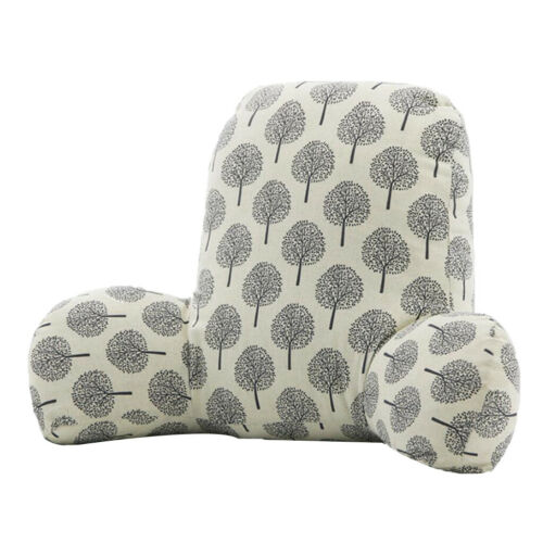 Velvet Back Support Pillows with Arms Sofa Bed Rest Pillow Lounger Cushion