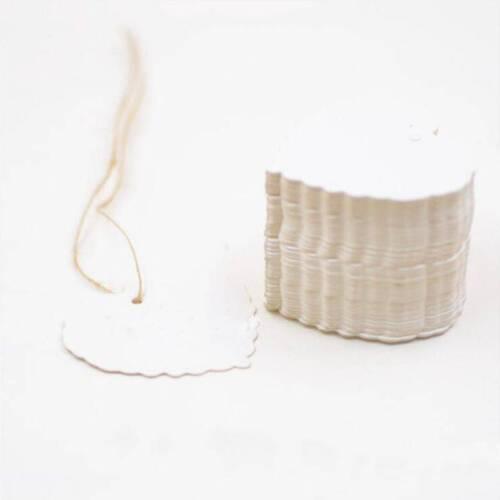 100Pcs New Label Card Blank Kraft Paper Gift Retro Tags DIY Wedding Party