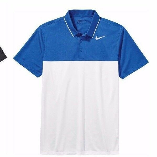 7d1a663e Nike Men's Size XL Golf Tour Icon Color Block Polo Shirt Blue/white 725527  for sale online | eBay