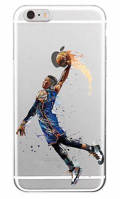 9e5c1e07216dd RUSSELL WESTBROOK Basketball Art Case iPhone 5 6 6+ 7 7+ 8 8+ TPU Soft  Plastic   eBay