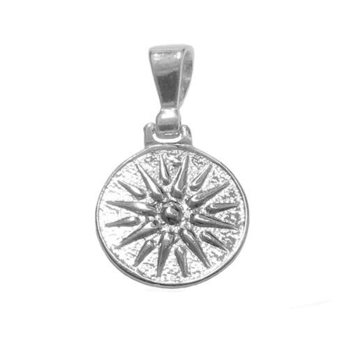 Sterling Silver Star of Vergina Macedonia Pendant