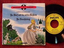 Der Wolf und die sieben Geißlein + Der Froschkönig   rare Philips 45 mit Buch