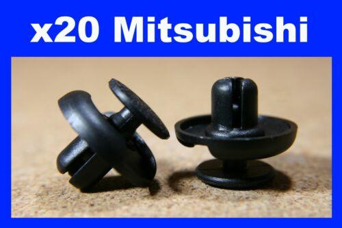Pour Mitsubishi 20 pare-chocs Fender Fascia TRIM PANEL Frotter Bande Fastener Clips