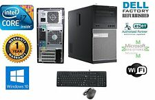 Dell 7010 TOWER PC DESKTOP i7 2600 Quad 3.4GHz 8GB 1TB HD Win 10 Pro 64 GeF210
