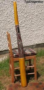 """51 """"\ 130cm Didgeridoo + Sac + Cire D'abeille Embout Buccal * Teck Bois Native éLéGant Dans Le Style"""