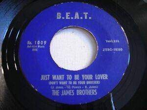 The-James-Brothers-Just-Want-to-be-Your-Lover-With-Your-Love-1959-45rpm-VG