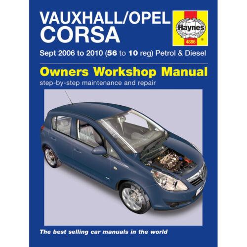 haynes manual 4886 vauxhall opel corsa 2006 2010 ebay rh ebay co uk vauxhall vectra 2006 owners manual 2006 vauxhall astra owner's manual